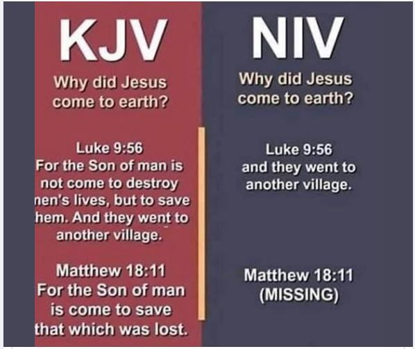 KJV-NIV Missing Verses